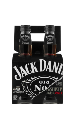 JACK DANIEL WHISKEY AND COLA DOUBLE PACK x 4 6,9° 33CL