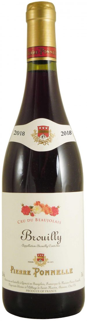 BROUILLY ROUGE PIERRE PONNELLE 2018 75CL